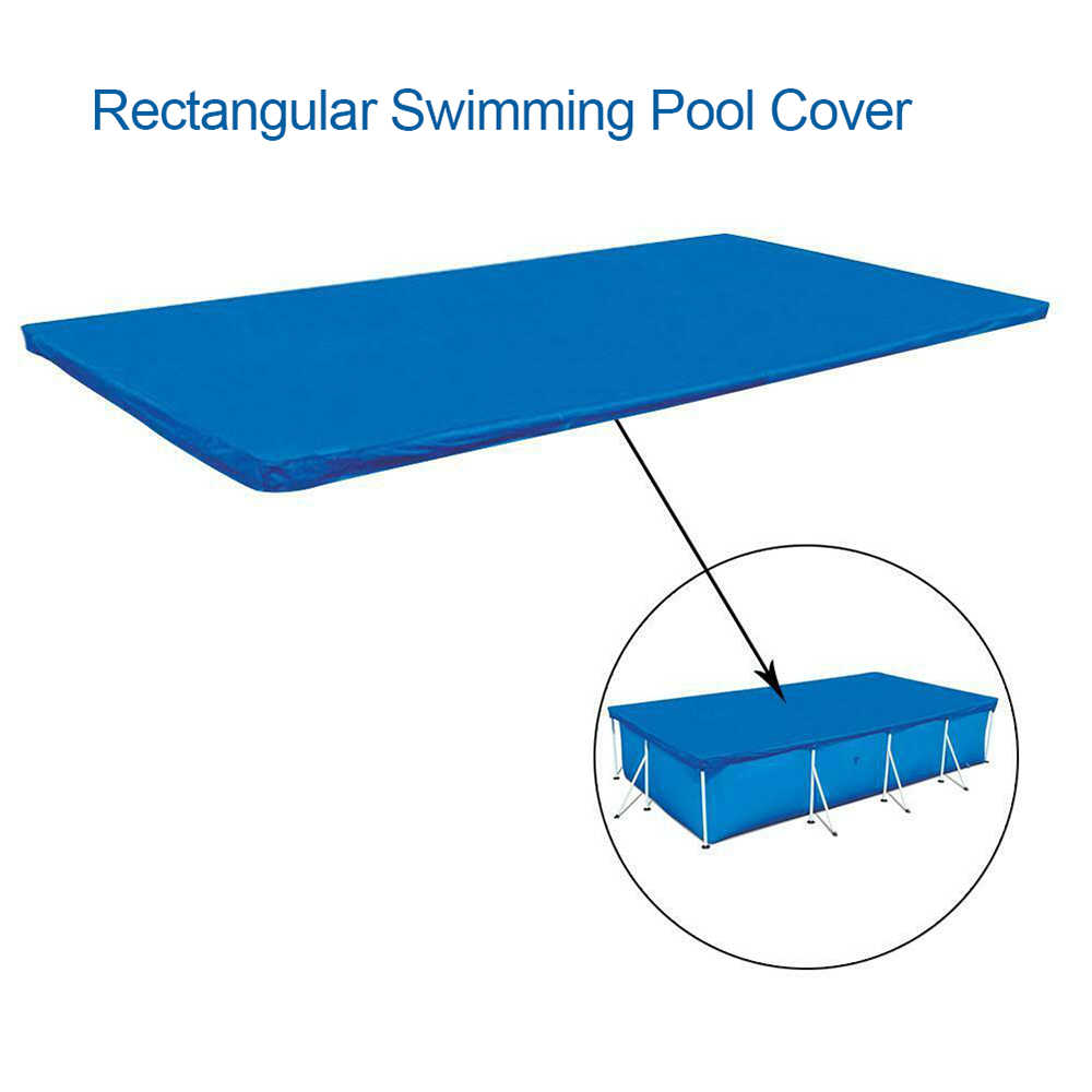 Bể Bơi Bao PE Chữ Nhật Tròn Chống Nước Bụi Bể Bao Da Mặt Đất Bể Bơi Phụ Kiện Nước Thể Thao Trẻ Em Bơi Bể