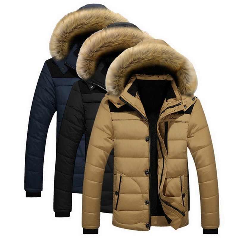 Puimentiua 2019 Nieuwe Stijl Winter Jassen Heren Jassen Mannelijke Parka Casual Dikke Uitloper Hooded Fleece Jassen Warm Overjassen