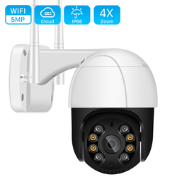5MP Wifi PTZ Camera Outdoor H.265 2MP 4X Digital Zoom Ai Human Detection WiFi Camera 1080P Auto Tracking ONVIF CCTV IP Camera