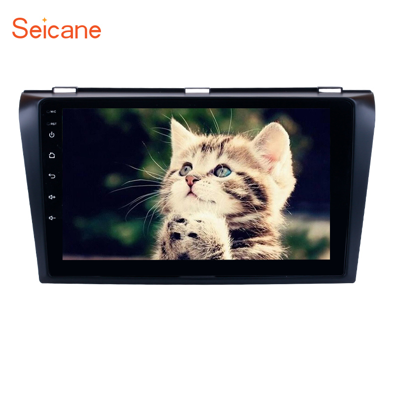 Seicane Android 9.0 Car <font><b>Radio</b></font> GPS Stereo Player for 2004 2005 <font><b>2006</b></font> 2007 2008 2009 <font><b>Mazda</b></font> <font><b>3</b></font> with RAM 4G+32G ROM bluetooth image