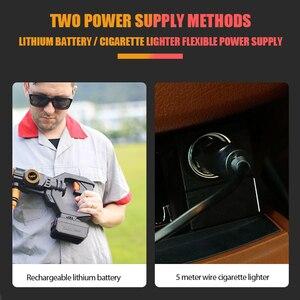 Image 4 - 22Bar/319PSI נייד גבוהה לחץ אלחוטי חשמלי מתח גבוה שטיפת מכוניות מכונה 0 4000mAh Rechargable כביסה משאבת