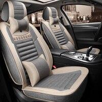 Full Coverage flax fiber car seat cover auto seats covers for seat altea xl arona ateca cordoba ibiza 6j 6l leon 1 2 3 5f mk1