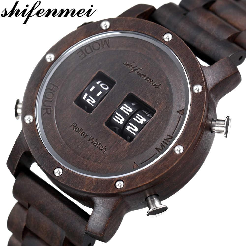 Relojes Shifenmei S5582, relojes militares para hombres, relojes de pulsera de cuarzo de lujo de primera marca, relojes de pulsera de madera para hombre, reloj Masculino