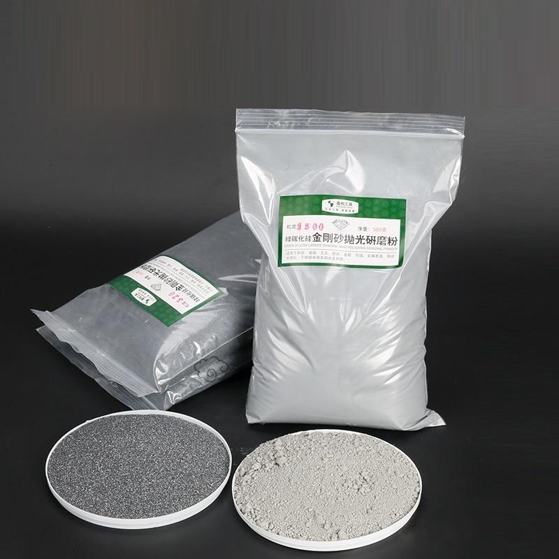 400g green Silicon carbide stone sandblasting machine Precision polishing hardware glass lamps Polishing powder 46-2000mesh