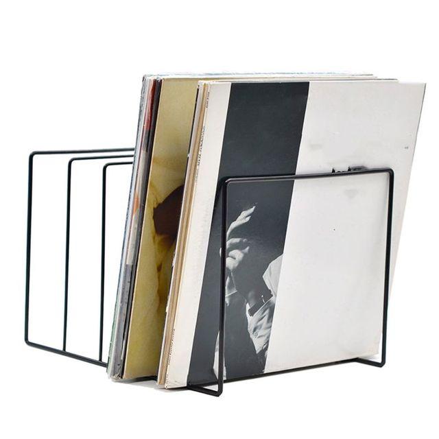 Métal LP vinyle disque présentoir plateau tournant étagère de rangement présentoir DXAC