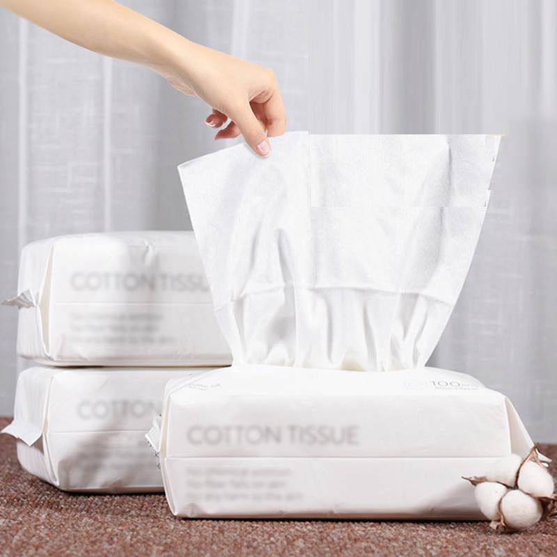 Disposable Face Towel Cotton Non-Woven Facial Tissue One Time Makeup Wipe Cotton Pads Facial Cleansing Roll Paper Tissue 15x20cm