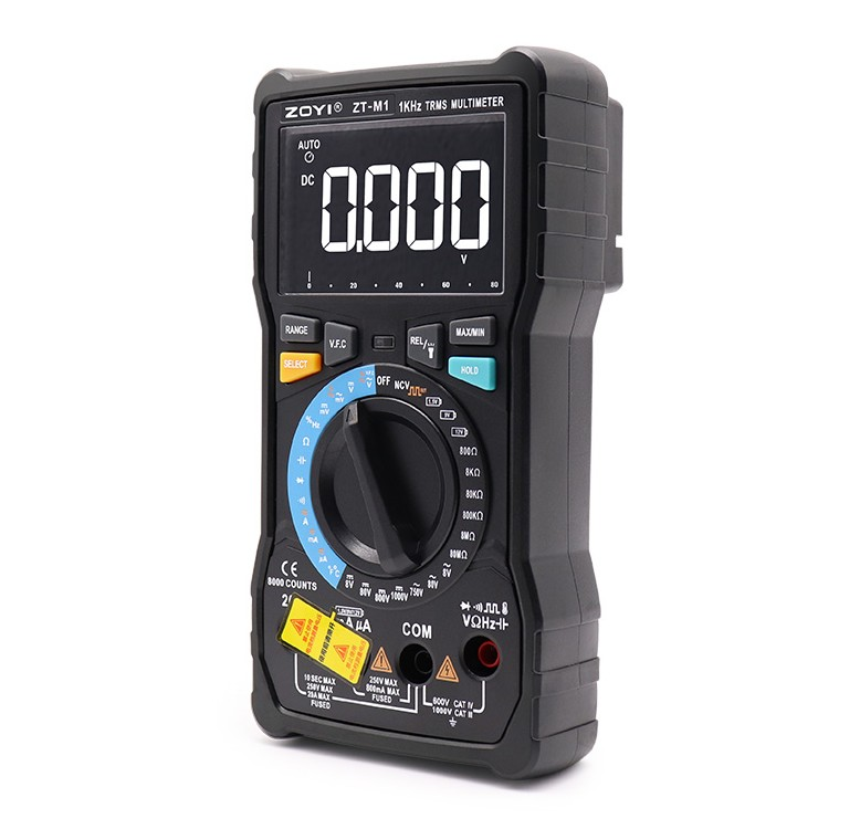 Dual mode true RMS digital multimeter AC and DC voltage current temperature frequency better than ZT-X RM409B