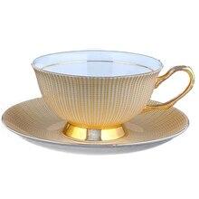 Керамическая чашка из костяного фарфора для кофе и чая, кофейная чашка и блюдце, Набор чашек для напитков