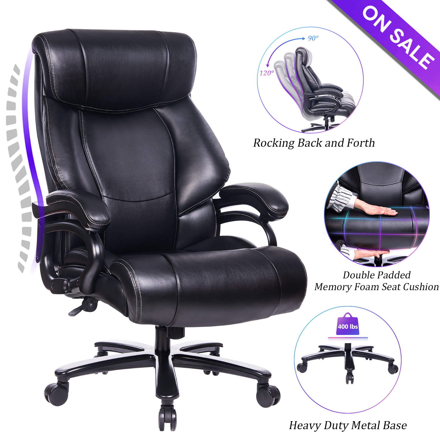 Wb 9039 2019 High Back Pu Office Leather Chair Boss Office Chair