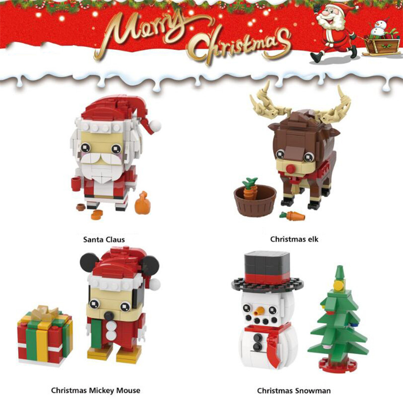 New Brickheadz Bell Beauty And The Beast Girl Friends Princess Creator Winter Legoinglys Christmas Tree Snow Toys For Children 33