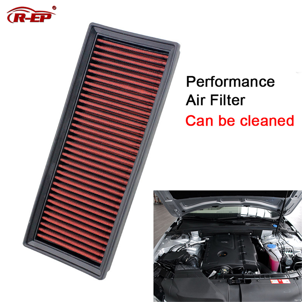 R-EP Air Filter Fits for Audi A4 A5 Q5 Allroad High Flow Replacement Panel Air Intake Filters Washable Reusable XH-AF0701