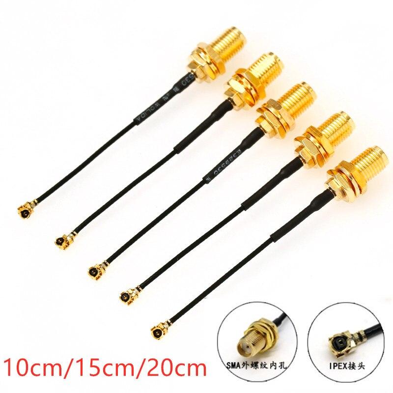 5 шт. кабель разъема SMA женский к uFL/u. FL/IPX/ipex РЧ коаксиальный адаптер в сборке RG178 косичка кабель 1,13 мм