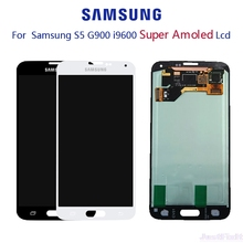 For SAMSUNG Galaxy S5 G900F G900H LCD display Touch Screen  Digitizer Original Super AMOLED Assembly with Adhesive