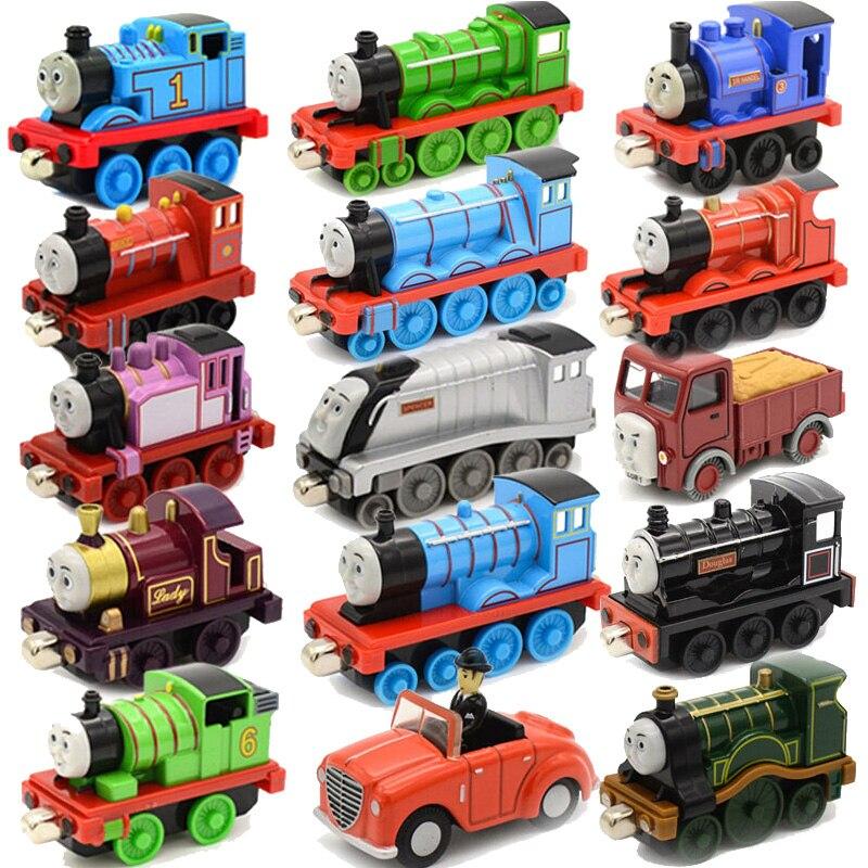 1:43 оригинальный стиле с принтом из мультфильма «Томас и его друзья» для литье металла Магнитные поезда игрушка локомотив Гордон Эмили Рози ...