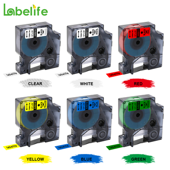 Labelife 1pcs 45013  S0720530  Compatible Dymo D1 manager 12mm Black on White Label Ribbons  for Dymo Label Manager 160  280 210