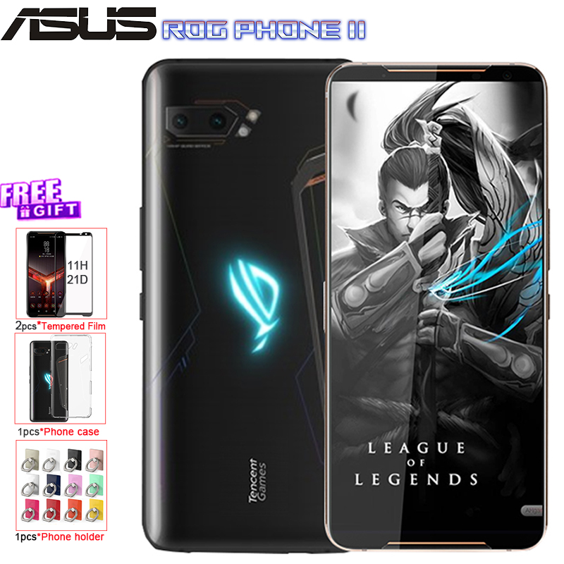 "Global ROM ASUS ROG Phone 2 Mobile Phone 6.59"" 8G 128G Snapdragon 855 Plus 2.96Ghz 48MP Android 9 6000mAh NFC Gaming Phone"