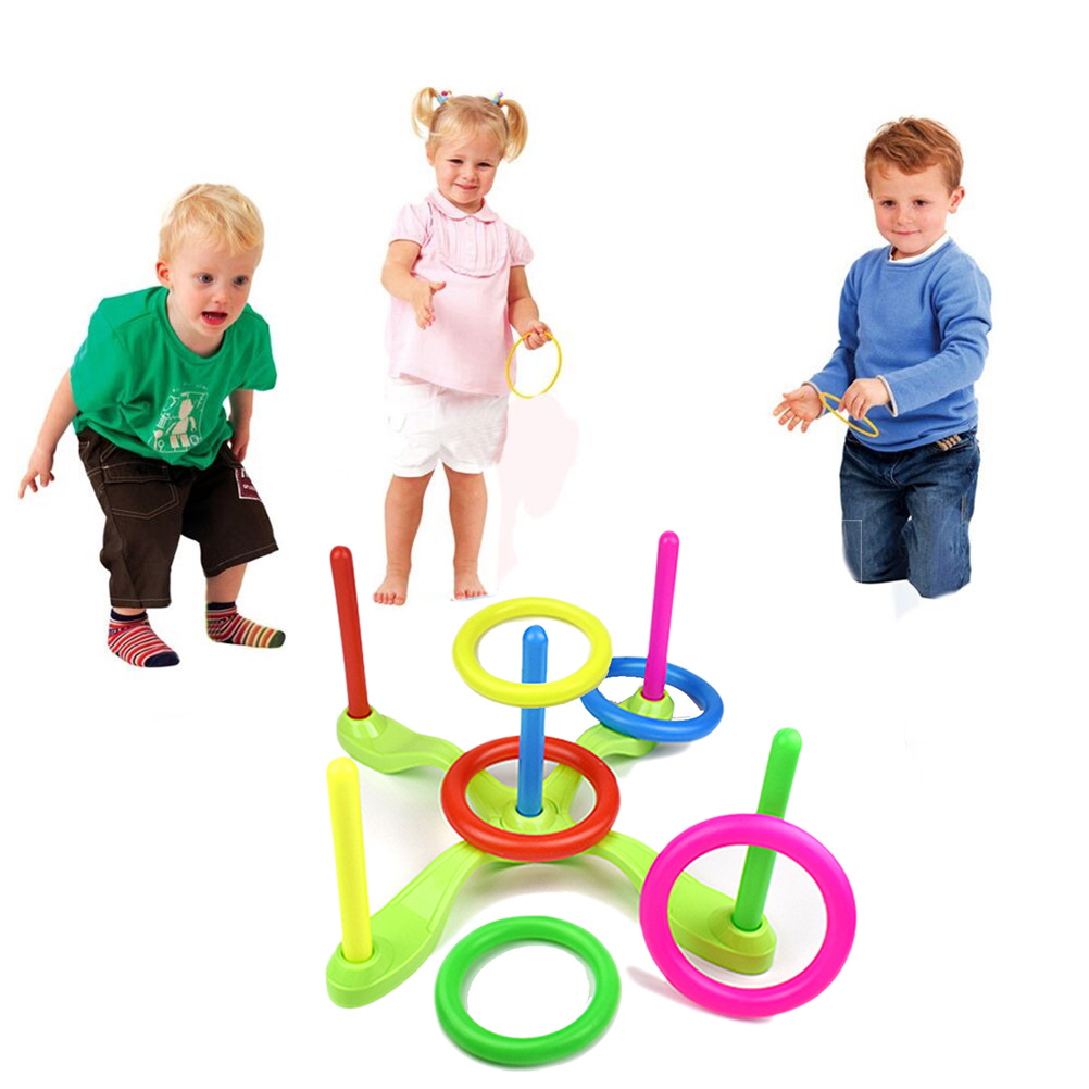1 Throwing Ring Ferrule Toy Plastic Detachable Ring Throwing Ring Children\'S Games Outdoor Sports Toys Children\'S Gifts