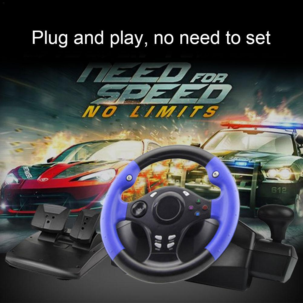 7 In 1 270 Degree Racing Steering For PS4/PS3/PC/XBOX-ONE/XBOX-360/Switch/Android Game Steering Wheel Realistic Throttle Brake image