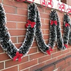 1PC Pop 2M Christmas Garland Green Xmas Bar Tops Ribbon Christmas Tree Decorations Ornament Cane Tinsel New Year Party Navidad 1