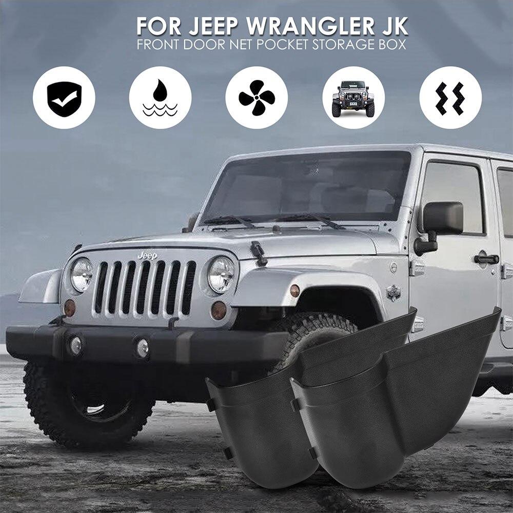 Front Door Storage Pockets Organizer Jeep Wrangler 2/4Door
