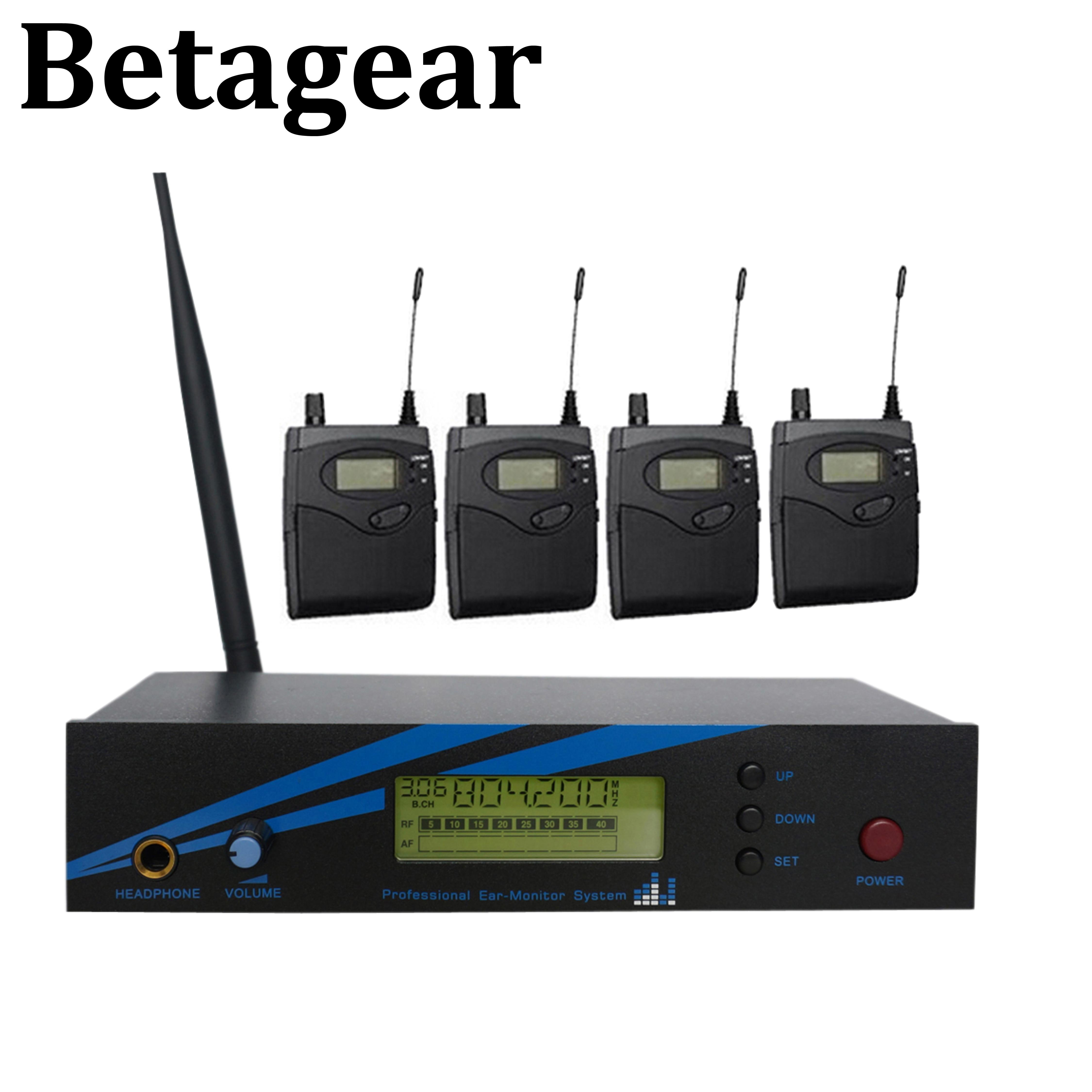 Betagear mono in ohr-monitor drahtlose system BK500 einzigen kanal 798-830MHz 4 empfänger professionelle leistung audio bühne