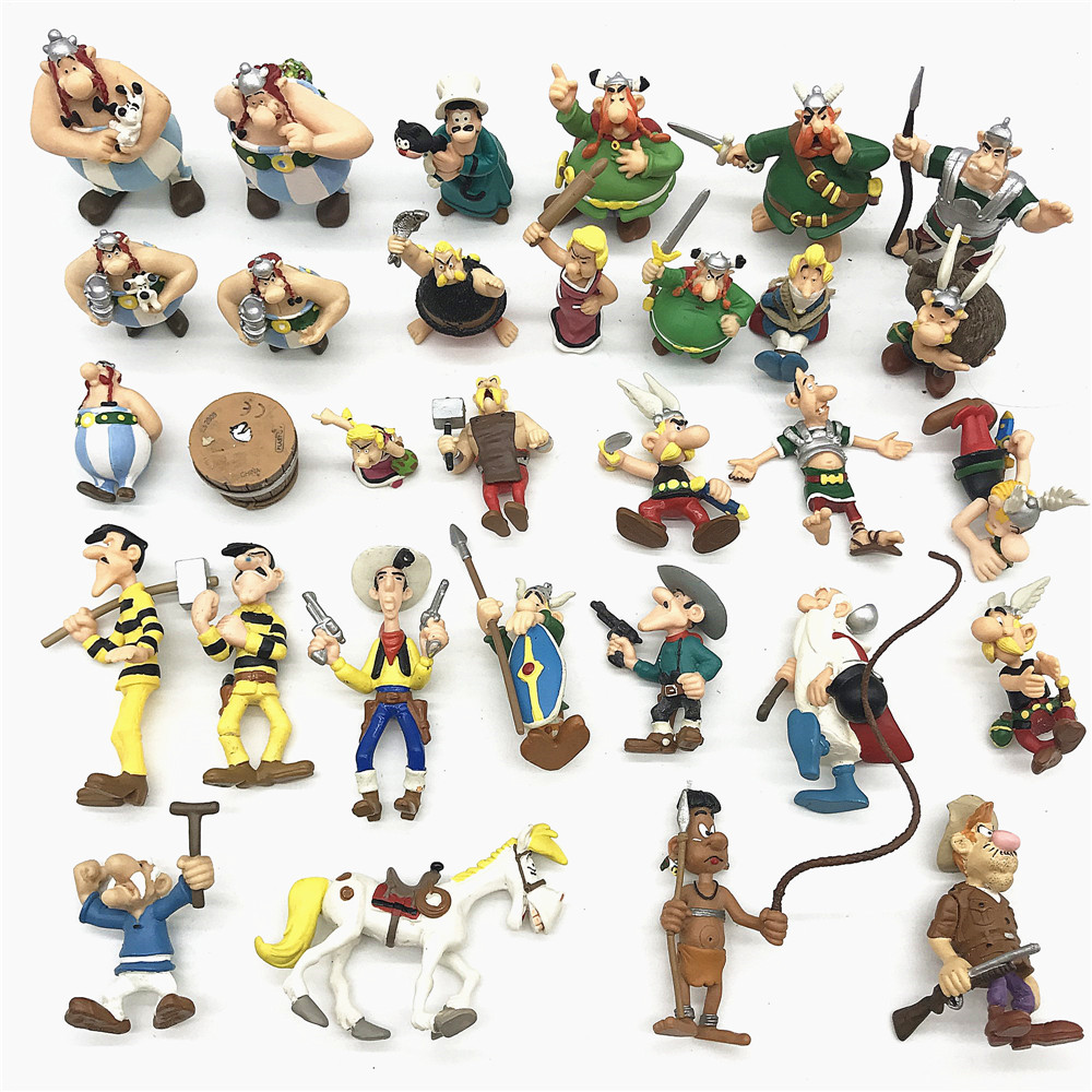 Gaul Hero Adventures Ancient European Soldiers Action Figure Toy 4.5~8 Cm The Adventures Of Asterix For Kids Toys