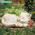 Цветочный горшок для животных  цветочный горшок для кошек  цветочный горшок для котенка  полимерная ваза  гидропоника  цветочные горшки  зел...