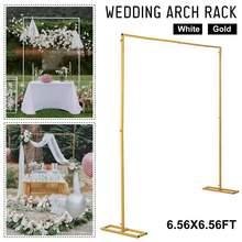 2M Wedding Background Frame Arch Shelf Iron Decorative Flower Stand Custom Wedding Square Arch Shelf Wedding Party Decoration