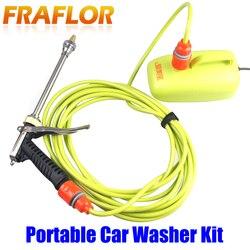 Kostenloser Versand Elektrische 12V 60Watt Hochdruck Auto Waschmaschine Portable Auto Waschmaschine Werkzeug Pumpe Kit Gerät