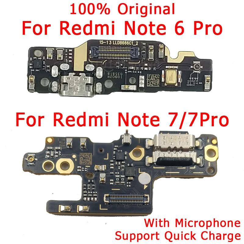 Original Flex Cable For Redmi Note 6 Pro Charging Port USB Plug For Redmi Note 7 Pro Charger Board PCB Connector Spare Parts