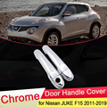 Для Nissan JUKE F15 Infiniti ESQ 2010 ~ 2019 хромированная крышка для дверных ручек набор для отделки автомобильных колпачков аксессуары 2011 2012 2013 2014 2015