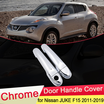 80640 ca000 80640 ca012 80645 ca000 2pc front left right outside chrome door handle smart entry for nissan rogue 2010 2013 for Nissan JUKE F15 Infiniti ESQ 2010~2019 Chrome Door Handle Cover Catch Trim Set Car Cap Accessories 2011 2012 2013 2014 2015