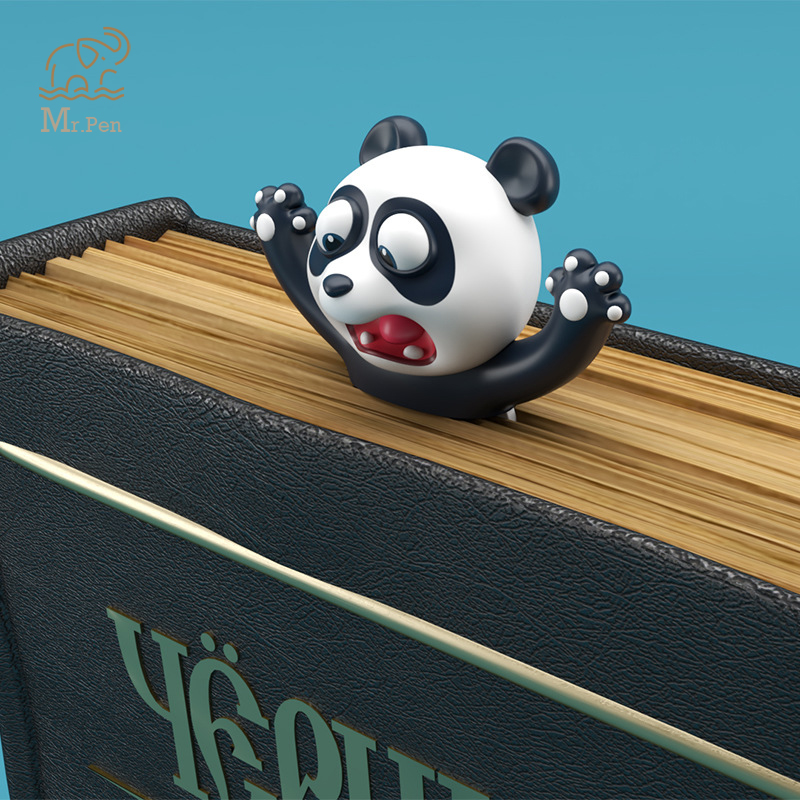 3D Squashed Animals Shiba Inu Panda Bookmarks Creative 3D Dog Book Marks For Kids Student Gifts Office School Kawaii Stationery