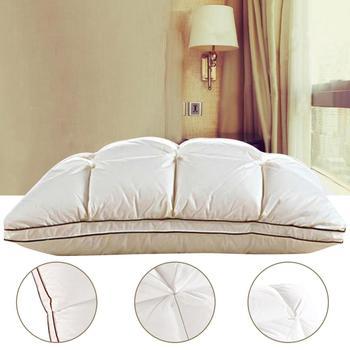 Almohada de plumas de ganso blanco suave para dormir, Almohada Cervical para...