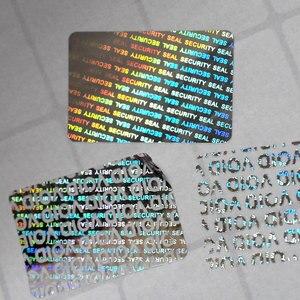Image 2 - الهولوغرام 20x30 مللي متر الفضة المجسم ملصقات ملصقات الفراغ