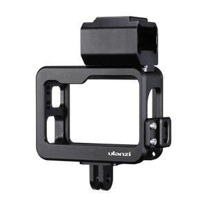 Image 5 - Ulanzi V3 Vlog 케이스 금속 케이지 Gopro 7 6 5 Vlogging 케이스 52 미리 메터 렌즈 필터 원래 마이크 전원 어댑터 Gopro
