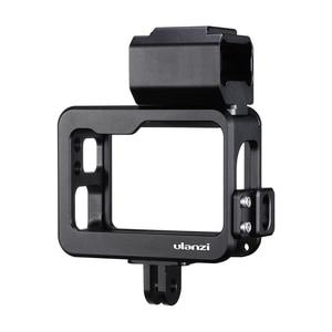 Image 5 - Ulanzi V3 Vlog boîtier Cage en métal pour Gopro 7 6 5 Vlog boîtier avec filtre dobjectif 52MM adaptateur dalimentation micro dorigine pour Gopro