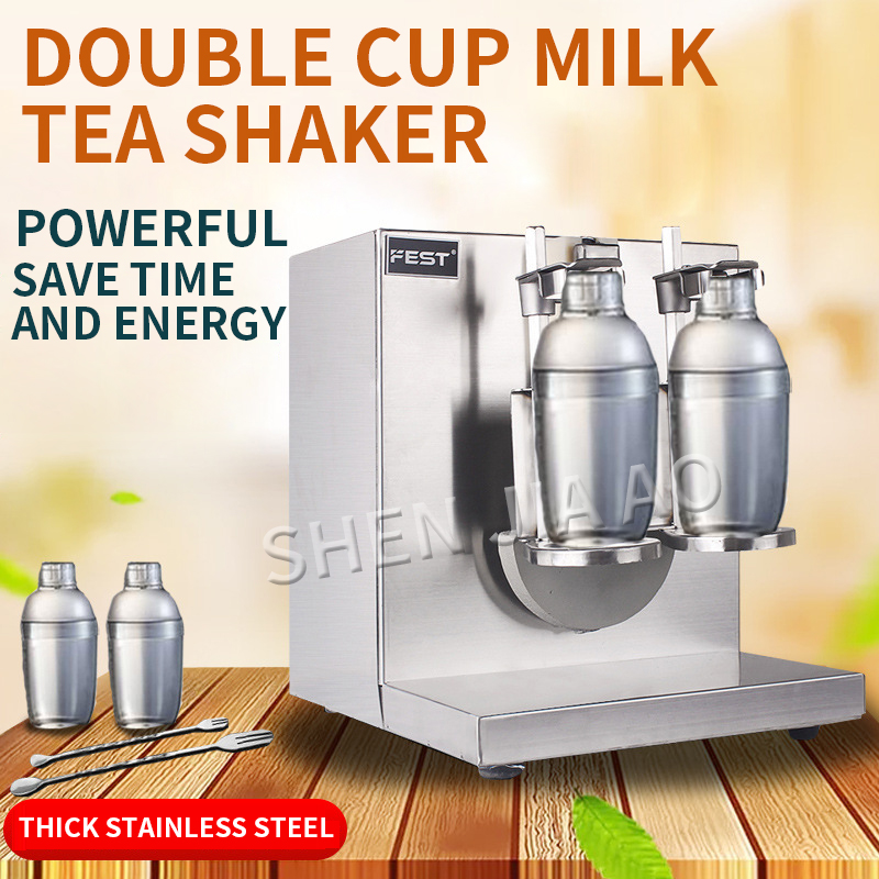 1PC Automatic Milk Tea Shaker Machine LJY120 2 Stainless Steel Double Head Milk Tea Swing Shake Machine Shaker Cup Machine 220V|Machine Centre| |  - title=