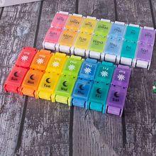 7 Day Tablet Pill Box Holder 14 Grids Weekly Medicine Storage Organizer Case