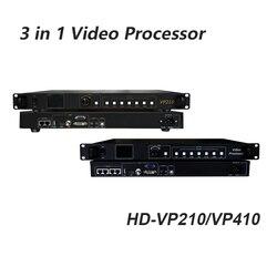 Procesador de vídeo led 3 en 1 Huidu HD-VP210 que incluye la tarjeta de envío de sincronización soporte U Disk Play
