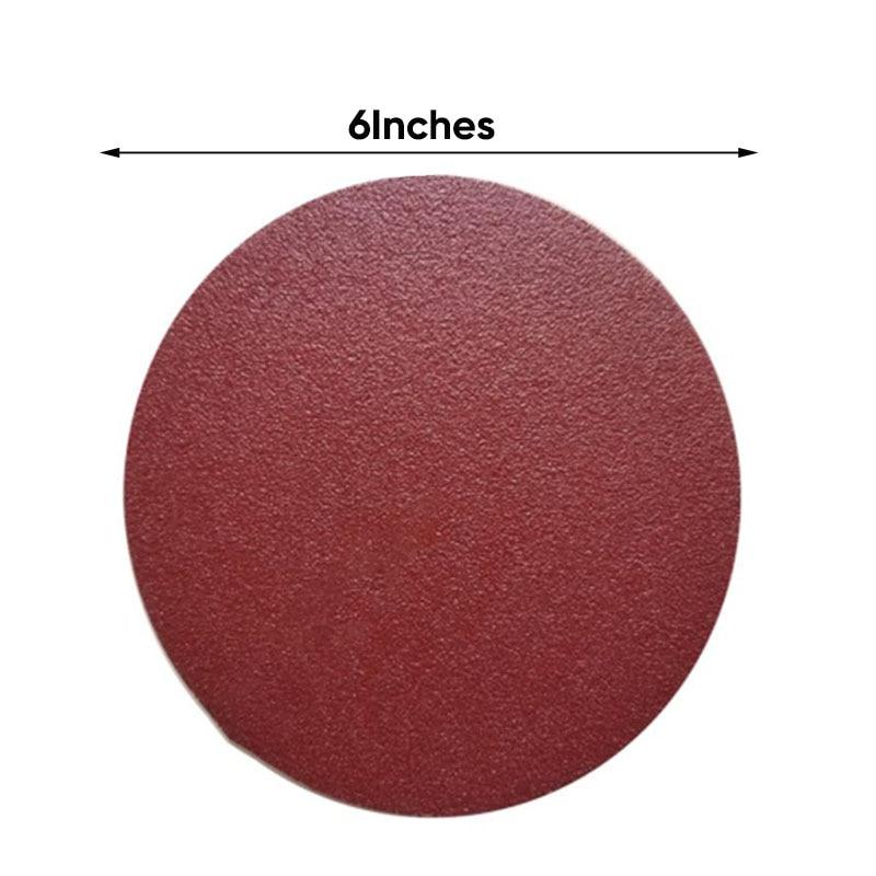 60pcs 6inch Self Adhesive Sanding Disc Sandpaper 80/100/120/180/240/400 Grit