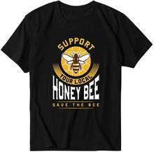 Женская футболка с принтом пчелы летняя коротким рукавом и графическим