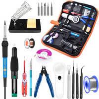 110 V/220 V 60 W/90 W Digitale LCD Verstelbare Elektrische Soldeerbout Lassen Pumb Desoldeerbout kit 900m Tip Cutter Repair Kit