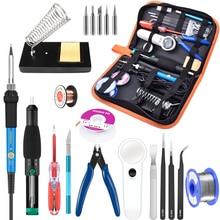 110V/220V 60W 80W Digitale Lcd Verstelbare Elektrische Soldeerbout Lassen Pumb Desoldeerbout Kit 900M Tip Cutter Repair Kit