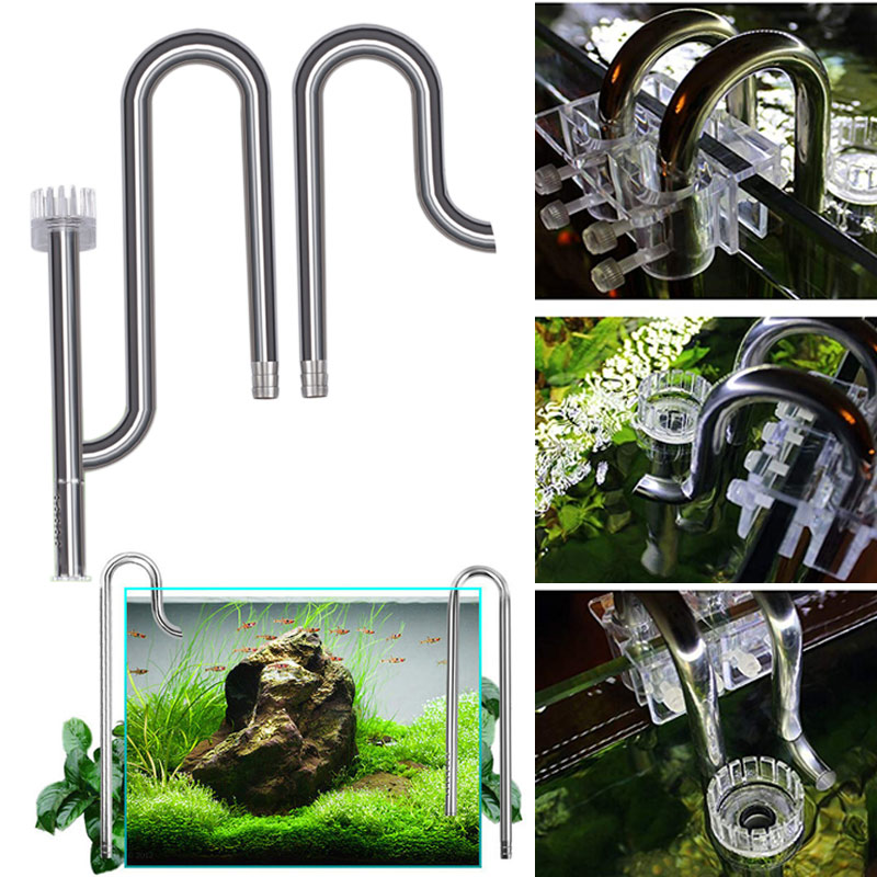 Spot Fish Tank Lily Pipe Stainless Steel Inflow Outflow Filter for Aquarium Planted Fish Tank VJ-Drop