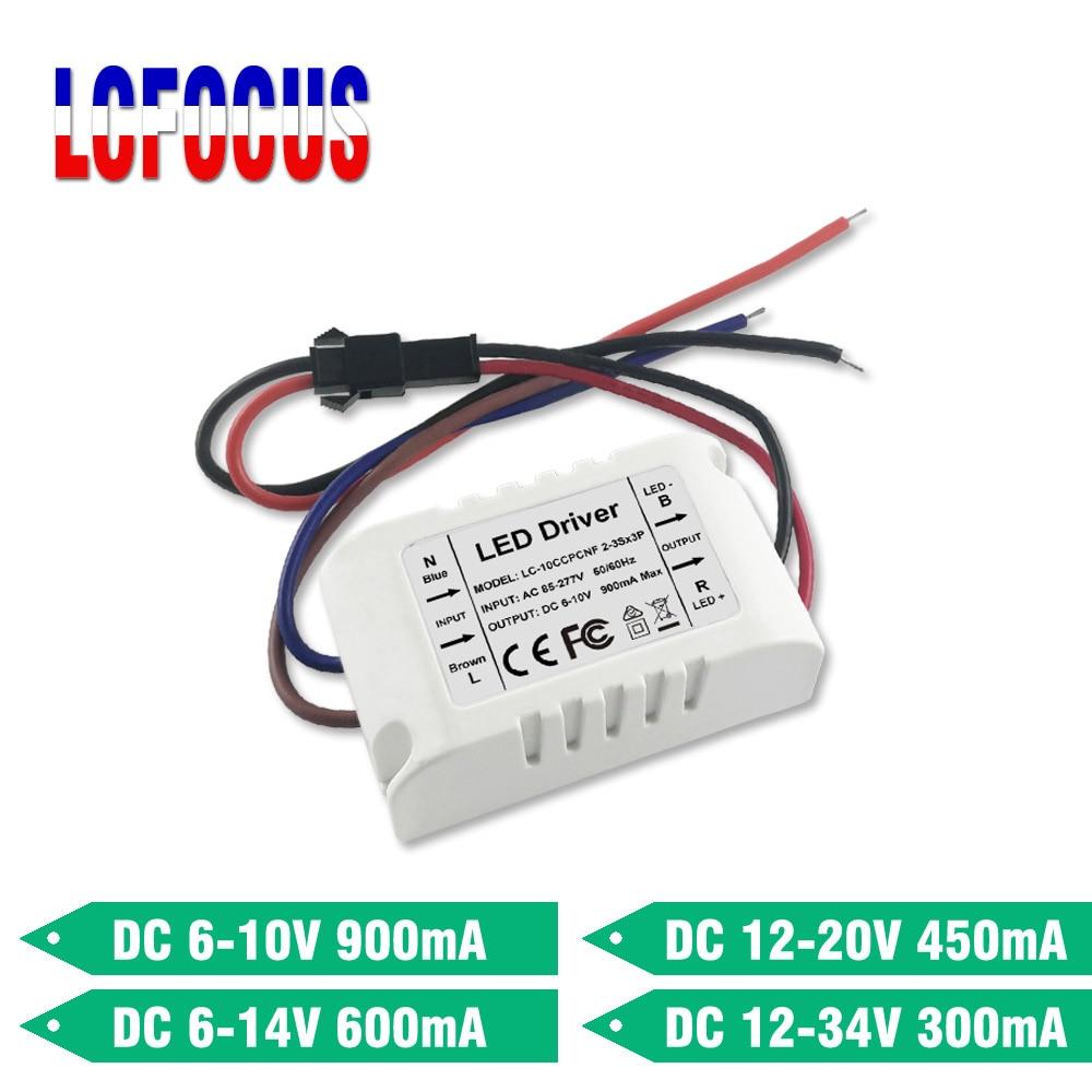 Светодиодный трансформатор, 6 Вт, 7 Вт, 9 Вт, 10 Вт, 12 Вт, постоянный ток 300 мА, 450 мА, 600 мА, 6 8 10 12 Вт