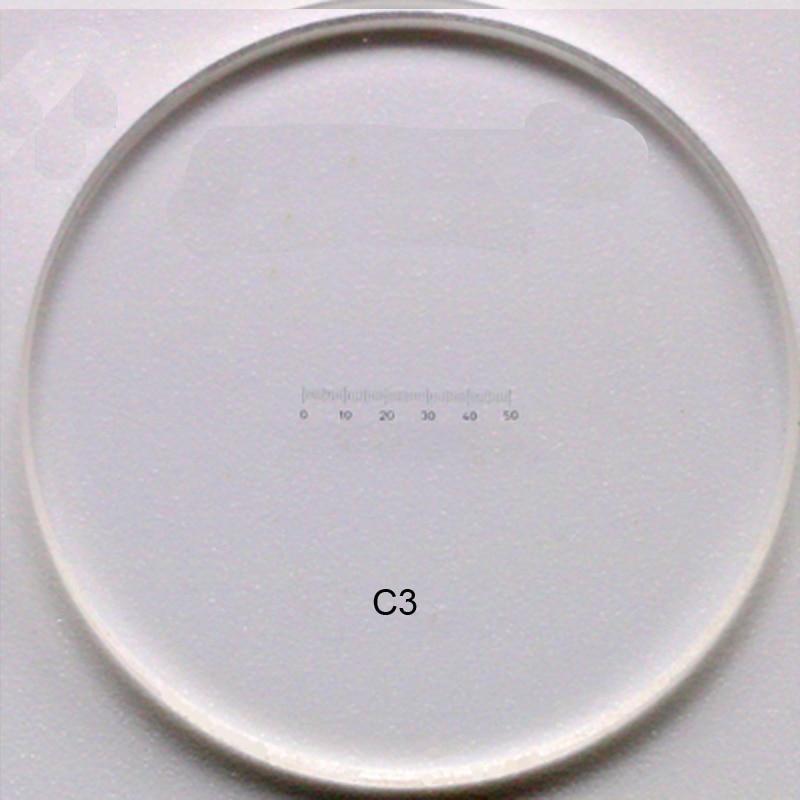 C1-C7 0,01 MM Vetrini per microscopio Calibrazione del reticolo - Strumenti di misura - Fotografia 5