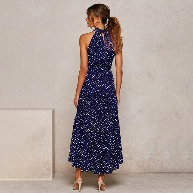 long soft great neckline dress 3