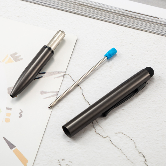 1 Pcs Luxury Multifunction Capacitive Touch Screen Stylus with Ball Point Pen Escolar Metal Ballpoint Pens Customized logo 3