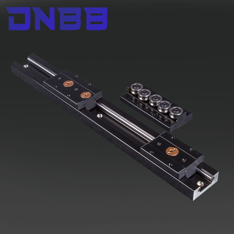 Black built-in dual-axis linear guide 28mm SGR10 slide rail SGB10 block optical axis photography track woodworking machinery